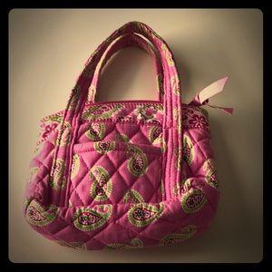 Vera Bradley mini purse pink paisley